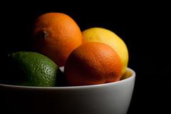 Citrus (Sharon Drummond) Tags: orange fruit project lemon bowl citrus 365 lime sidelight project365