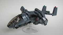 DARKWATER Talon Dropship V-1.1 (Andreas) Tags: lego military talon darkwater minigun vtol dropship brickarms