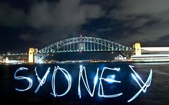 Sydney Light Painting (Mateolio) Tags: light painting sydney australia operahouse harbourbridge tamron1750mm pentaxkr