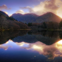 The Light of the hills III (lordoye) Tags: sunset lake reflections glencoe loch mkii gloaming lochan scottishhighlands 1740f40l eos5dmarkii nevispix
