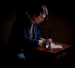 Letter to Home (The Uprooted Photographer) Tags: portrait people history dark nc union northcarolina naturallight civilwar historical write newbern tryonpalace