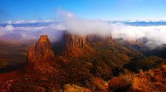 foggy Canyon (Outrageous Images) Tags: colorado explore grandjunction fruita cnm coloradonationalmonument explored exploreflickr outrageousimages davewadsworth