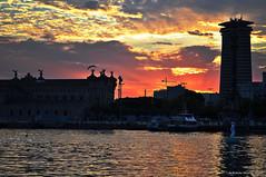 Sunset Barcellona (Roberto Manicini Photos) Tags: sunset sea tramonto mare roberto barcellona mancini