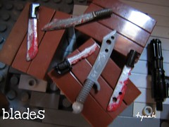 Blades (tyaak (retired)) Tags: mod paint lego painted liam bullet bloody custom weapons missle cocaine mods brickarms ammochain tyaak tyaakattack