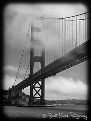 Golden Gate Bridge Black and Wite (Brett Missick Photography) Tags: sanfrancisco seattle trees blackandwhite beach napavalley winecountry keywestflorida travelphotography fineartprints