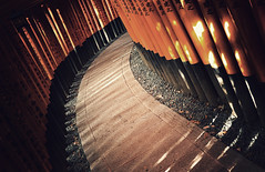 Brett Clarke (Brett Clarke) Tags: lighting light art lumix kyoto day mood inari artistic path stones curves creative atmosphere panasonic kanji repetition oldfashion paths 20mm tori tones vignette hiragana wornout fushimi gf1 43rds brettclarke