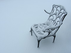 Chair for snow (shaggy359) Tags: cambridge white snow broken garden cherry chair snowy cover covered whiteout cambridgeshire hinton cherryhinton cambs