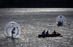Zorbing 2 (posimage) Tags: windows water training aqua lakes lakedistrict derwentwater sphereing orbing aquazorbing