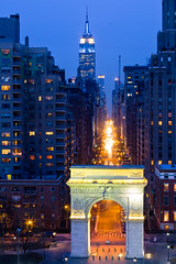 Washington Square Arch, Fifth Avenue, and the Empire State Building (RBudhu) Tags: newyorkcity washingtonsquarepark nyu empirestatebuilding gothamist fifthavenue kimmel