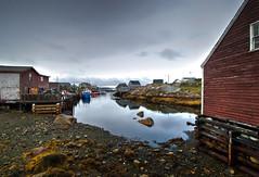 Atlantic Fishing Village (corybeatty) Tags: sky canada water nova clouds boat fishing village cove atlantic scotia halifax peggys maritimes