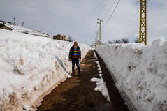 Myself at Laklouk (Paul Saad (( ON/OFF ))) Tags: road street winter portrait sky lebanon white mountain snow nikon outdoor qartaba laklouk kartaba paulsaad
