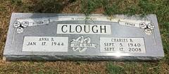 Clough Headstone (eloisedv) Tags: oklahoma cemetery headstone gravemarker cartercounty lonegrove