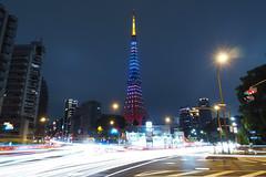P5030374 (Zengame) Tags: longexposure tower japan architecture night pen tokyo illumination landmark olympus illuminated jp  tokyotower  zuiko   penf     mzuiko 12mmf20 mzuikodigitaled12mmf20 livecomposite