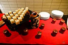 Mousse and cakes (A. Wee) Tags: france dessert restaurant hotel pashmina valthorens     lerefuge lebasecamp