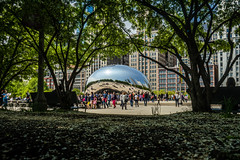 Spring is Here, Finally (Flipped Out) Tags: chicago millenniumpark cloudgate anishkapoor