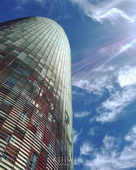 Looking Up (kiiiwiii) Tags: barcelona sky tower textura apple up clouds arquitectura torre looking bcn edificio cielo nubes contra agbar iphone picado kiiiwiii iphone6 kiiiwiiiphotography