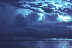 With a Bang (Rifshaan_Ahmed) Tags: nature weather lightning maldives thunder sheer exteme
