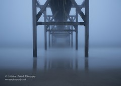 Between Two Worlds (Matthew Nuttall Photography) Tags: old longexposure sea mist beach broken fog coast pier wooden seaside le coastline fret derelict dereliction relic countydurham necoast hartlepool northeastcoast ukcoast longexposurejunkies