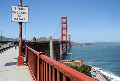 Golden Gate Bridge - 2016 (tonopah06) Tags: sanfrancisco california ca sign sidewalk deck goldengatebridge sanfranciscobay railing ftpoint ggb 2016