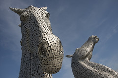 366/138 17May16 Kelpies (Romeo Mike Charlie) Tags: horses sculpture scotland canal falkirk stirlingshire forthandclyde kelpies