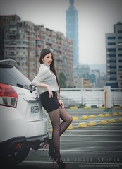 jaylin-0112 ( Jaylin) Tags: travel portrait stockings girl outside ol photo airport model women uniform open library longhair taiwan olympus lookout heels taipei sailor mirco omd pepole hight m43 mzd jelin linjay