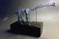 Brachiosaurus Skeleton, Fumiaki Kawahata (Yarik__) Tags: paper skeleton origami modular brachiosaurus kawahata fumiaki