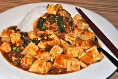 spicy doufu and meat sause (Ian Riley) Tags: street food restaurant rice sauce tofu chinese kingdom australia meat adelaide noodle spicy sa southaustralia gouger doufu