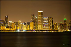 Chicago Skyline (dhtuan) Tags: city architecture buildings lights downtown nightshot lakefront chicagoskyline alderplanetarium searswillistower