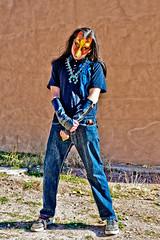 Abiquiu (Larry1732) Tags: coyote plaza newmexico mask indian nm abiquiu dances lamsa coyotespirit