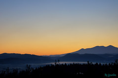 Early in the morning3 (jyunbo) Tags: orange mountain tree japan aomori gettyimagesjapanq4