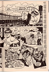 Pt 2 of 2-page CTA third rail story by Sung Koo and Paul Guinan (fotoflow / Oscar Arriola) Tags: urban horse brown chicago art train dark comics underground subway paul spread 1 book illinois midwest artist comic cta authority cartoon tracks rail bookstore line il 1993 independent transit comix page legends electricity third 3rd cartoonist koo ravenswood sung guinan quimbys