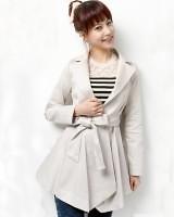 X08681日本女装超正板型腰带淑女修身风衣-(韓版女裝批發-www.ef1688.com)