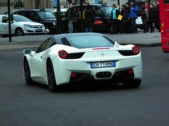 Ferrari Italia (kenjonbro) Tags: uk italy white london italian italia trafalgarsquare ferrari coupe 458 kenjonbro fujihs10 eh719mn