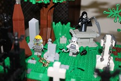 Grim Reaper and Ball & Chain Gang Member (efranco37) Tags: roof house plant man tree green abandoned halloween window cemetery monster rock wall werewolf fence dark out skeleton spider fly scary rat gate venus dragon lego reaper witch vampire zombie invisible secret ghost scarecrow bat victorian tan headstones dungeon lagoon eerie dracula haunted creepy greenhouse frankenstein torture devil keep ghosts vault skeletons mad zombies creature crypt trap crooked scientist