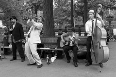 Music in Central Park (D.J. De La Vega) Tags: new leica york white black manhattan x1