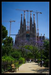 008 (E. Pels) Tags: barcelona park parque españa architecture spain arquitectura crane catalonia gaudí catalunya sagradafamilia grua parc antoni cataluña grúa despanya