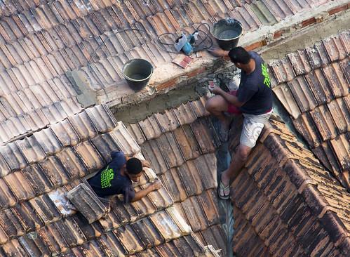 リオデジャネイロの屋根屋さん?