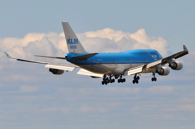 KLM Royal Dutch Airlines (KLM Asia) - Boeing 747-400M Combi - PH-BFH - City of Hong Kong - John F. Kennedy International Airport (JFK) - September 18, 2011 4 037 RT CRP