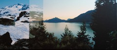 Howe Sound and Whistler Mountains (Arts Off Main Gallery) Tags: ocean blue canada art nature water vancouver landscape photography artist bc originalart contemporary canadian gift photomontage prints fineartphotography artprints creativephotography bcart vancouverscenes photographyartistic photographyartist finephotoart photographyandfineart bcartist photographersfineart artsoffmain