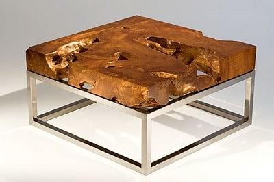 Teak Wood Root Slab Table Top Furniture For