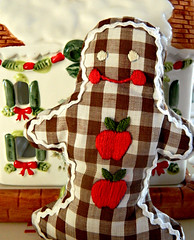 Gingham Gingerbread Man (Frolicking~ Freckles) Tags: christmas saint gingerbread traditions gingerbreadhouse stlucia christmasdecor gingerbreadman stlucy saintlucia saintlucy stluciaday