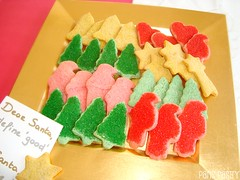 Colored Christmas Spice Cookies (DolceDanielle) Tags: santa christmas red food holiday tree green cookies yellow recipe star baking heart martha spice stewart colored tinted desser parispastry
