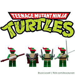 TEENAGE MUTANT NINJA TURTLES (bruceywan) Tags: toy lego turtle ninja shell mini figure half mutant heroes leonardo minifig raphael michaelangelo donatello tmnt teenage