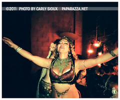 Belly Dancer Backstage Shanghai Mermaid, sept 2011 (carly_sioux) Tags: nyc film brooklyn photography jazz nightlife pointshoot ragazza paparazza shanghaimermaidparty carlysioux juliettecampbell