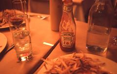 SPOTTED PIG - NYC (B HAUS) Tags: thanksgiving manhattan slidefilm fries e6 nikonf3 heinztomatoketchup provia400 colorpositive spottedpig