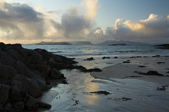 Island View (Donald Beaton) Tags: uk sea seascape clouds silver landscape island coast scotland sand rocks little rum isles eigg morarwest