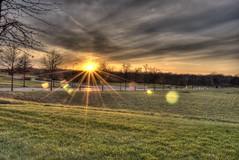 sunset (Albinoux) Tags: columbus sunset ohio sky sun grass set project lens nikon day cloudy sunny final lensflare flare oh 3000 hdr cbus d3000