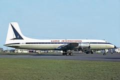 BRISTOL BRITANNIA  307 G-ANCE LLOYD INTERNATIONAL (shanairpic) Tags: gance lloydinternational proplinerbristolbritanniabritannia