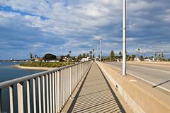 2979. Crown point (Di's Eyes) Tags: road bridge water lines clouds shadows rail footpath crownppoint