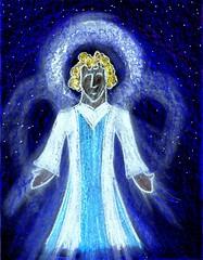 Nativity Angel (traqair57) Tags: christmas art gabriel angel stars drawing jesus christian angels bible christianity crayons angelic cosmic nativity gospel stushie